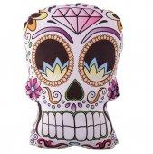 Meksykańska Cukrowa Czaszka - poduszka dekoracyjna