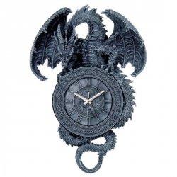 duży Zegar ze Smokiem - na ścianę