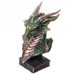 Głowa Zielonego Smoka średnia - figurka fantasy