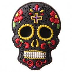 Meksykańska Czaszka czarna - magnes