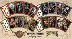 Steampunk - klasyczne karty do gry projektu Anne Stokes