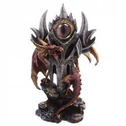Czerwony Smok i Magiczne Oko - figurka fantasy