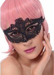 Maska karnawałowa koronkowa czarna III