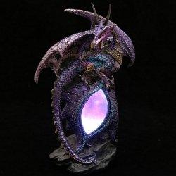 Dragon Eye - figurka fioletowego smoka z lampką LED