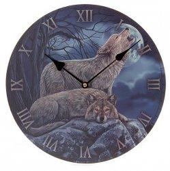 zegar - Wilki i Księżyc