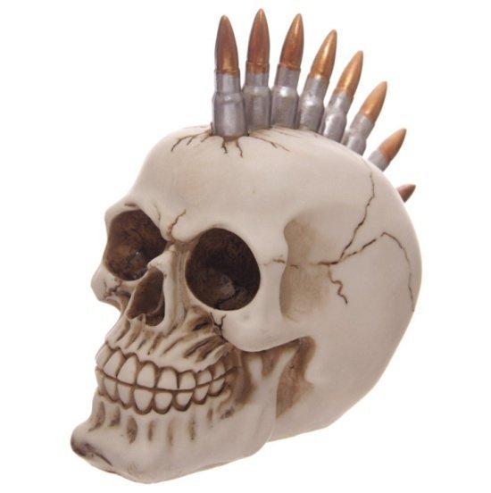 czaszka z irokezem - irokez z nabojami