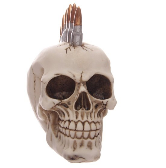punk czaszka z irokezem