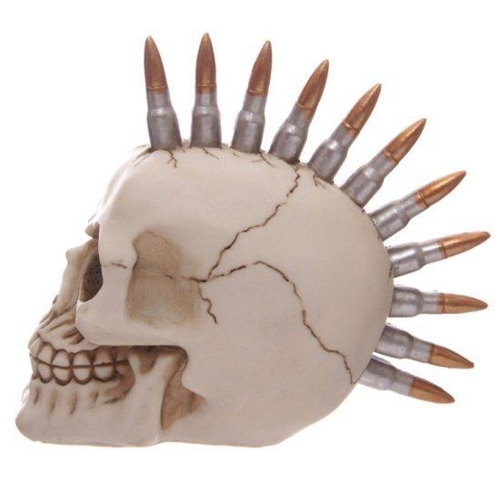 czaszka punkowa z irokezem