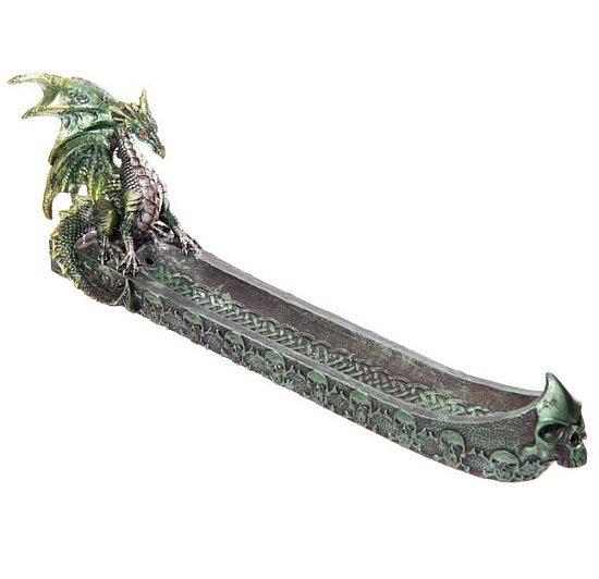 Zielony Smok podstawka na kadzidła