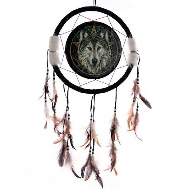 Magiczny Wilk - łapacz snów, 33cm