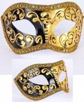 Maska wenecka - Colombina Mezza Black