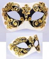 Maska wenecka - Colombina Occhi Black