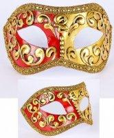 Maska wenecka - Colombina Mezza Red