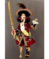 Marionetka wenecka - Kapitan Hook (77 cm)