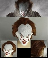 Maska lateksowa - 2017 Stephen King's IT Horror Clown