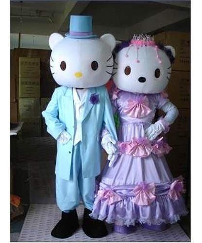 Chodzące Maskotki Hello Kitty ślubna Para 54770845