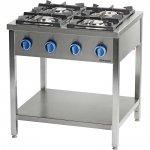 kuchnia gazowa wolnostojąca 4 palnikowa z półką 24 kW - G30/31 (propan-butan)