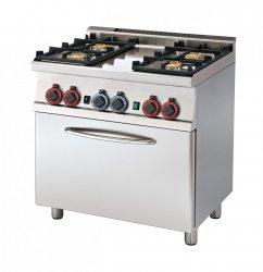 Kuchnia gazowa zpiekarnikiem el. CF4-68 GEM RM Gastro