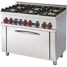 Kuchnia gazowa zpiekarnikiem el. CF6-610 GEM RM Gastro