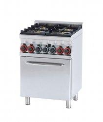 Kuchnia gazowa zpiekarnikiem el. CFM4-66 GEM RM Gastro
