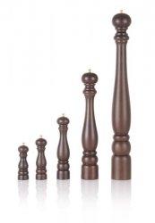 Młynek drewniany do pieprzu Toscana 50 cm, brązowy