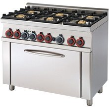 Kuchnia gazowa z piekarnikiem CF6-610 G RM Gastro