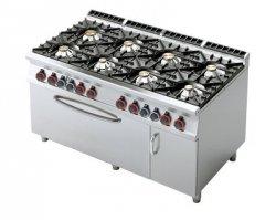 Kuchnia gazowa zpiekarnikiem gaz. iszafką RM Gastro CF8 - 916 GV