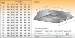 Okap centralny z oświetleniem lo 911 - 2600x2200