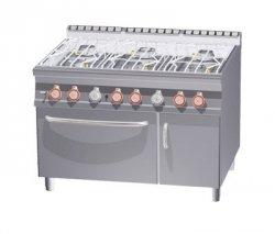 Kuchnia wodna gaz. z piek. i szafką RM Gastro CFA6 - 912 GV