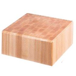 kloc masarski drewniany 400x500x150 mm na podstawie ze stali nierdzewnej Stalgast