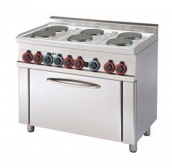 Kuchnia elektryczna z piekarnikiem CF6-610 ET  RM Gastro