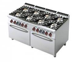 Kuchnia gazowa zdwoma piek. elektr. RM Gastro CF8 - 916 GE