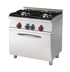 Kuchnia gazowa WOK zpiek. el. RM Gastro - 800x550x900 mm