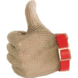 rękawica stalowa czerwona M