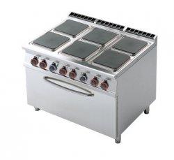 Kuchnia elektryczna zpiekarnikiem RM Gastro CFQ6 - 912 ET
