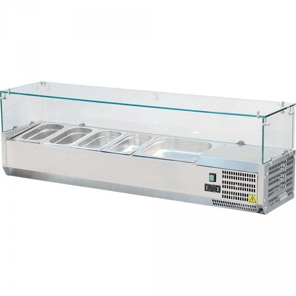 witryna chłodnicza z szybą 5xGN 1/4 1200X335X435 mm z szybą Stalgast