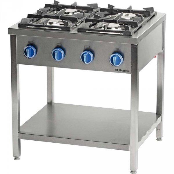 kuchnia gazowa wolnostojąca 4 palnikowa z półką 24 kW - G30 (propan-butan) Stalgast