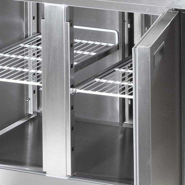 stół chłodniczy 2 drzwiowy agregat po prawej stronie ECO