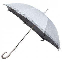 Retro Romantic długa parasolka biała koronka