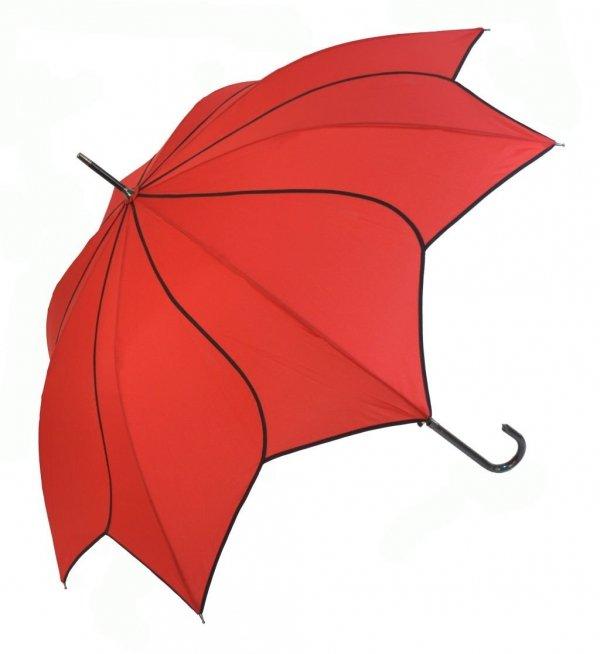 Francja Elegancja czerwona parasolka długa automat