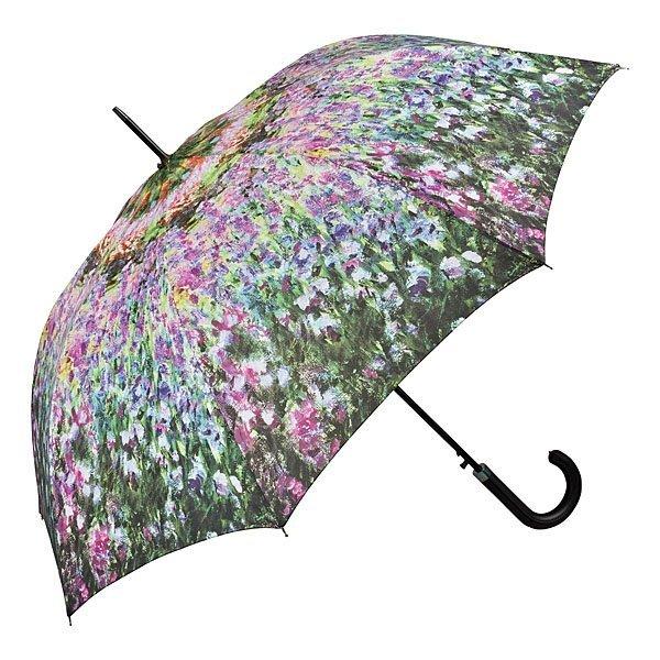 Ogród Moneta Parasol długi ze skórzaną rączką