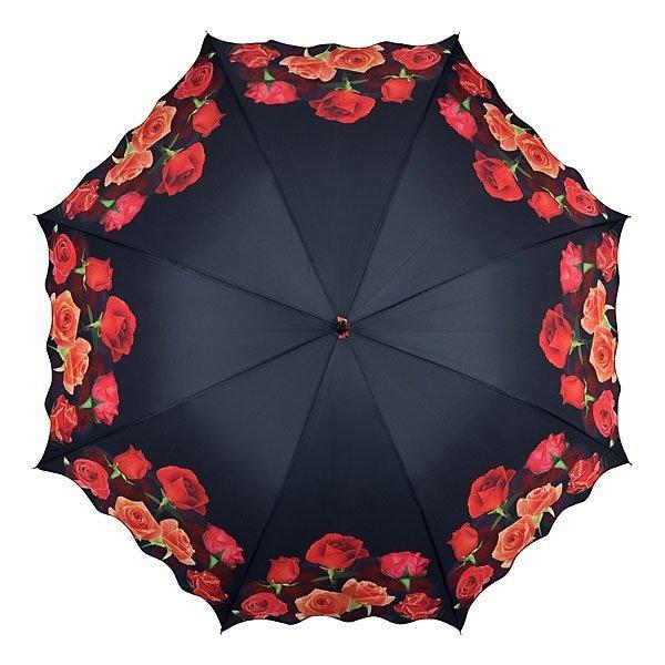 Róże Parasol długi ze skórzaną rączką