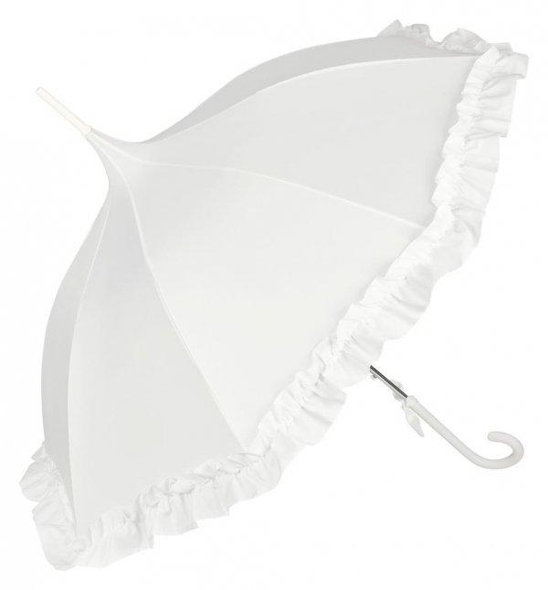 Lilly - biała parasolka pagoda z falbanką