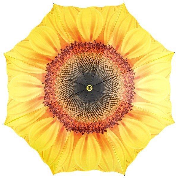 Słonecznik - Parasol długi ze skórzaną rączką