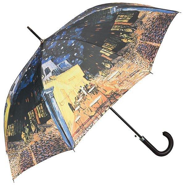 """Vincent van Gogh """"Kawiarniany taras"""" Parasol długi ze skórzaną rączką"""