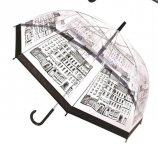 Parasolka transparentna CITY przezroczysta Miasto