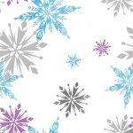 Tapeta Frozen Kraina Lodu Disney Płatki Śniegu