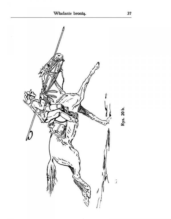 Regulamin kawalerii. Władanie bronią (lanca-szabla-karabinek-pistolet)