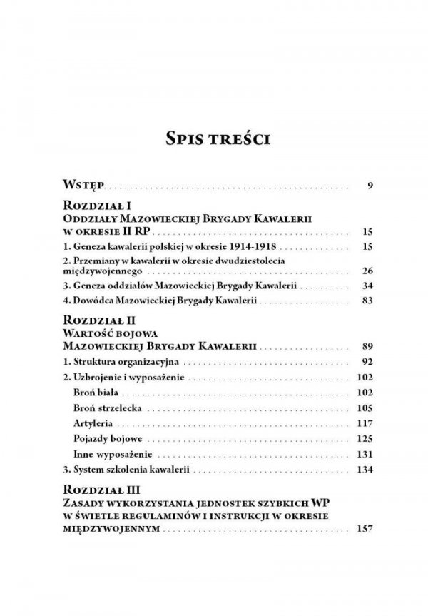 Mazowiecka Brygada Kawalerii w latach Drugiej Rzeczypospolitej oraz podczas Kampanii Wrześniowej 1939
