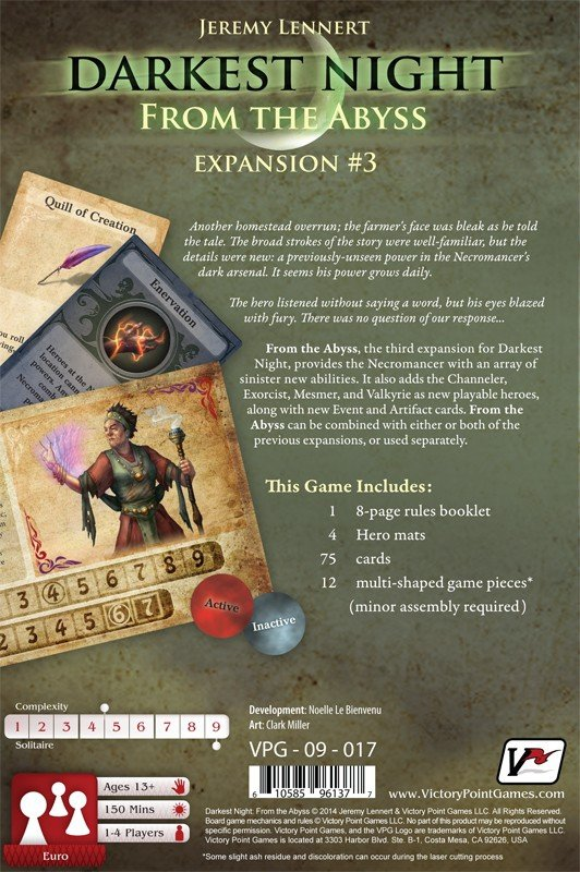 Darkest Night Expansion #3: From the Abyss